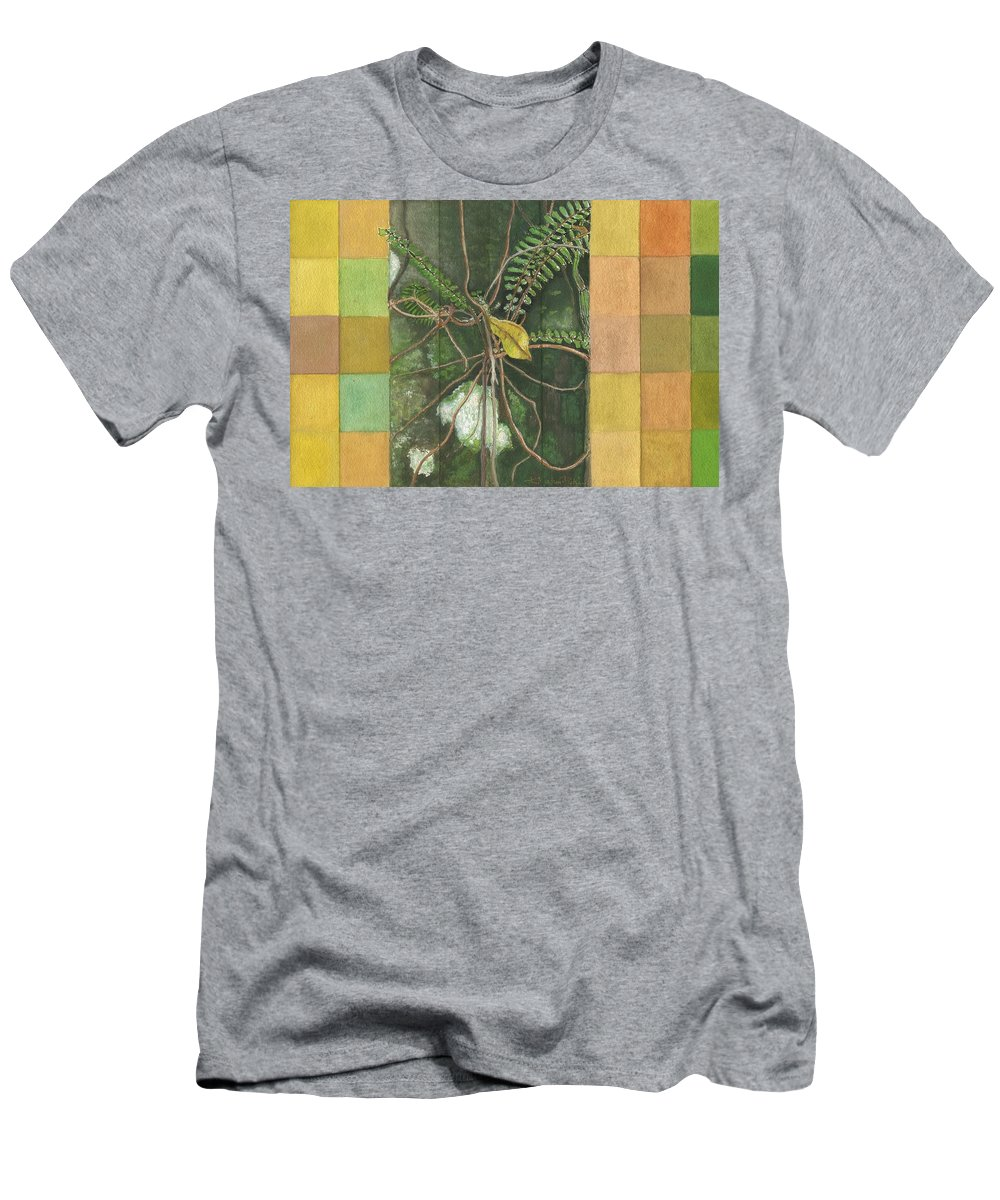 Gouache Men's T-Shirt (Athletic Fit) featuring the painting Entanglement by Kerryn Madsen- Pietsch