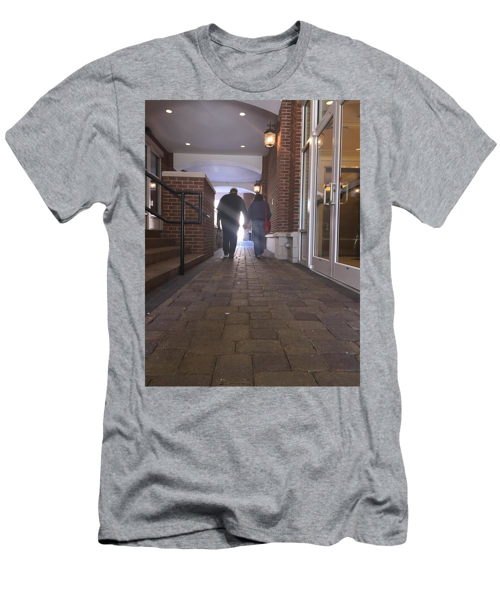 Walking Men's T-Shirt (Athletic Fit) featuring the photograph Evening Stroll by Mary Little Big Eagle