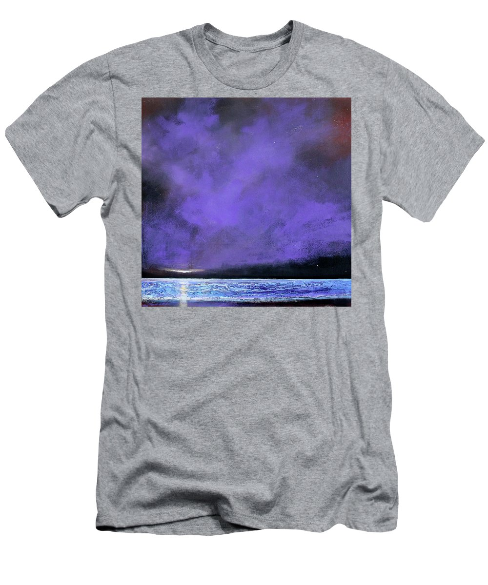 Landscape Men's T-Shirt (Athletic Fit) featuring the painting Evenings End by Toni Grote