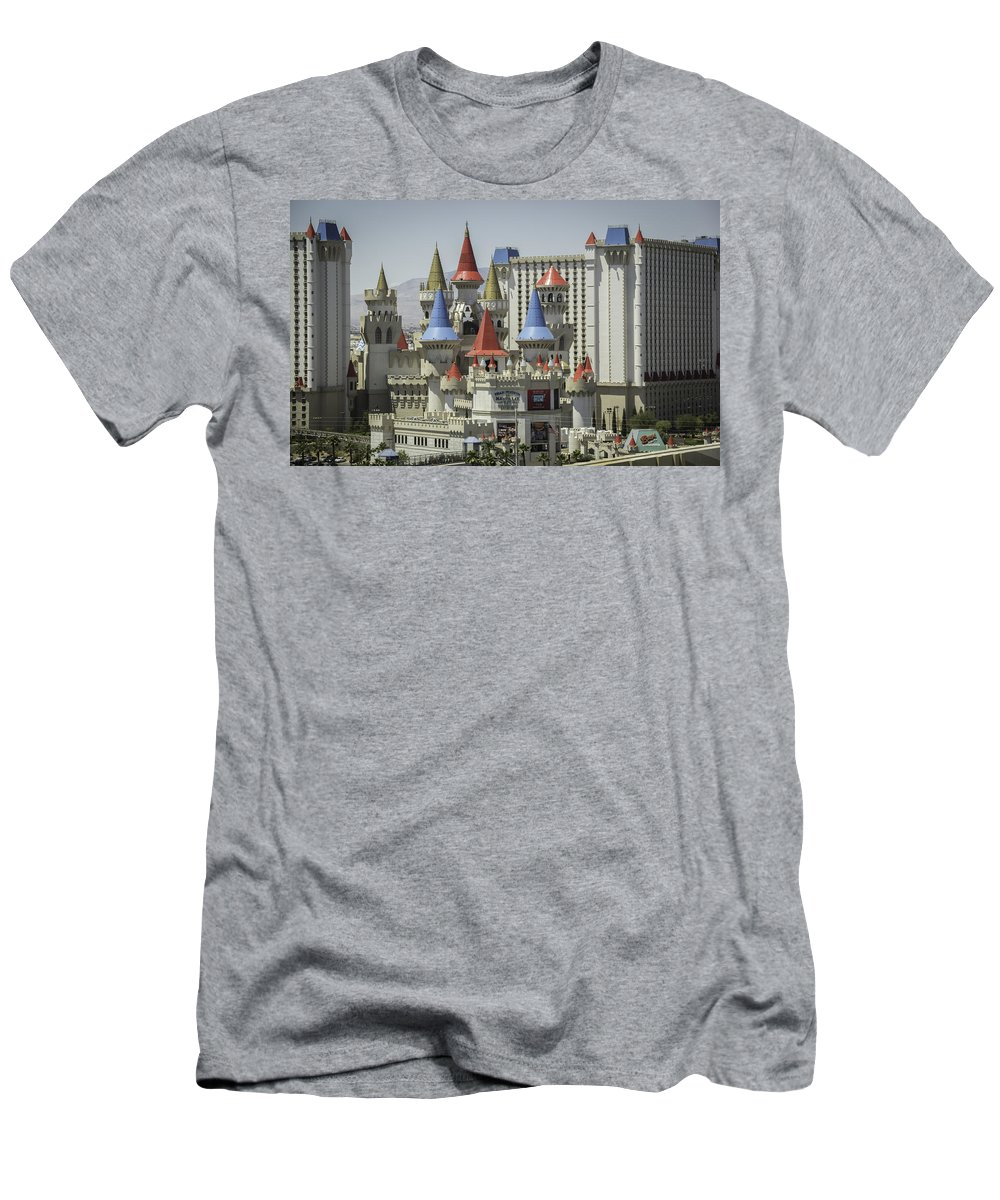 2015 Men's T-Shirt (Athletic Fit) featuring the photograph Excalibur View by Teresa Mucha