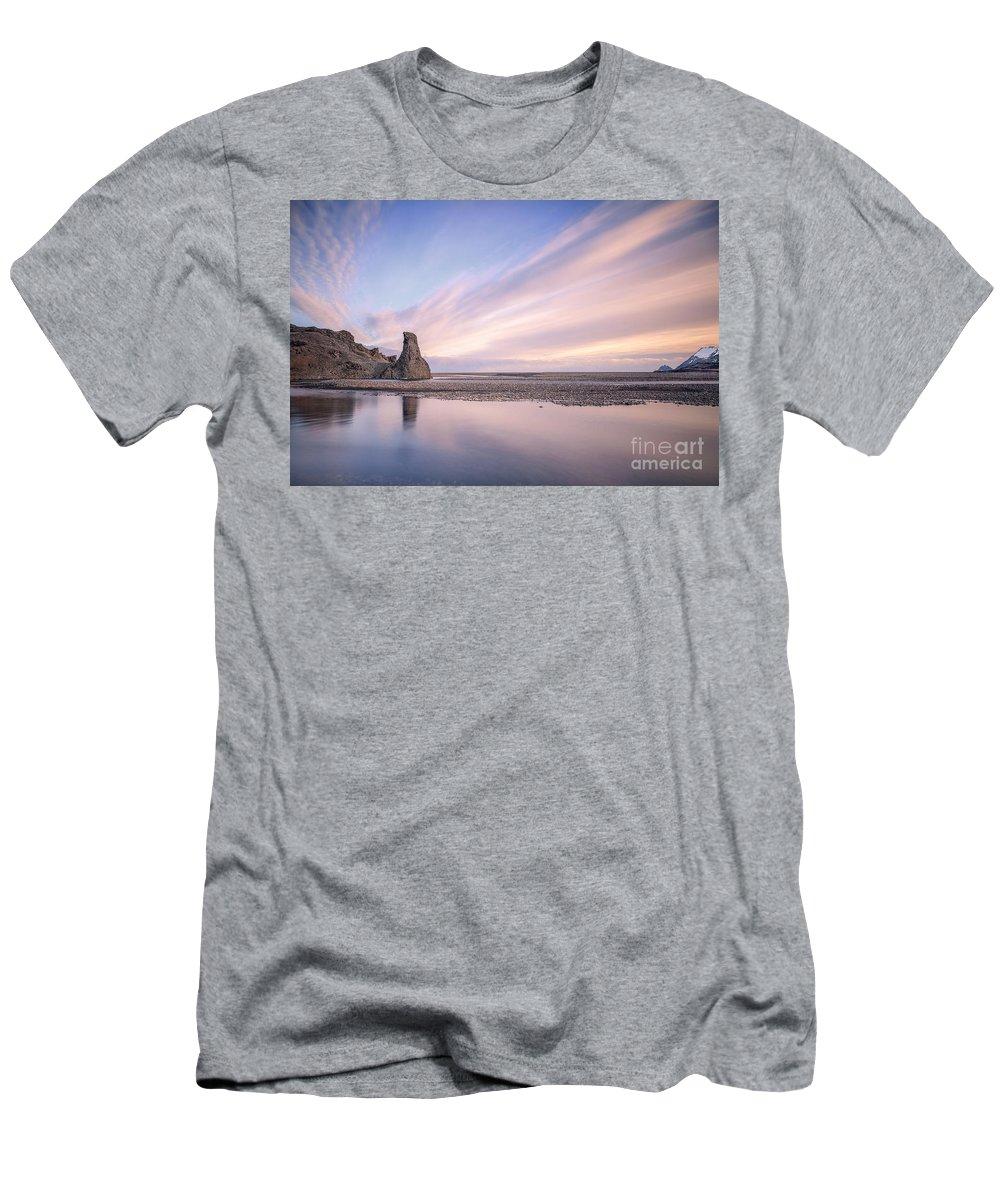 Kremsdorf Men's T-Shirt (Athletic Fit) featuring the photograph Extended Stillness by Evelina Kremsdorf