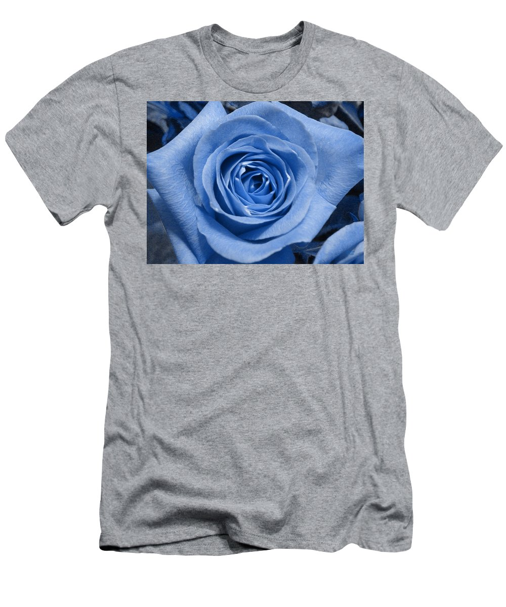 Rose Men's T-Shirt (Athletic Fit) featuring the photograph Eye Wide Open by Shelley Jones