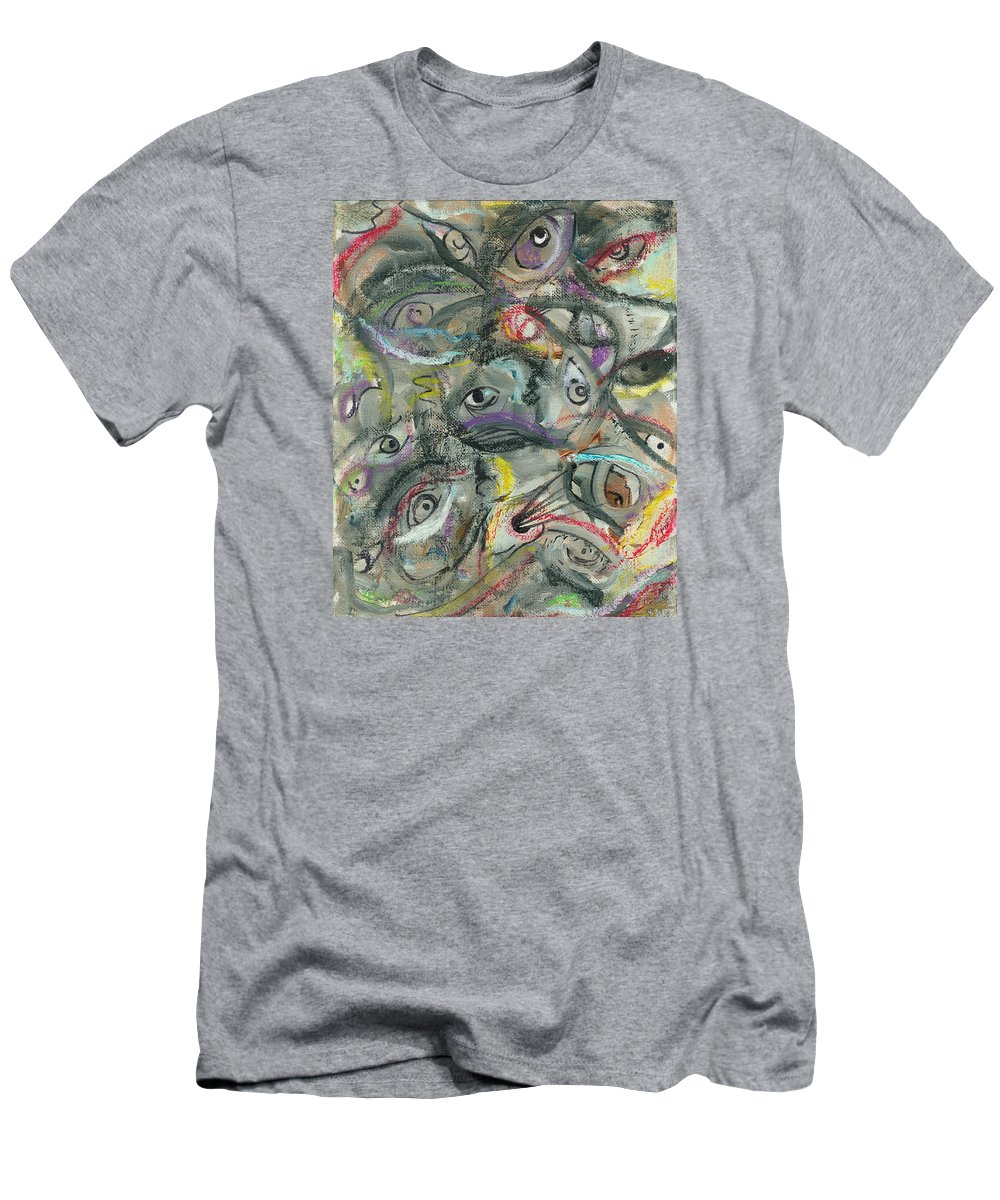 Eyes Men's T-Shirt (Athletic Fit) featuring the painting Eyescape by Jorge Delara