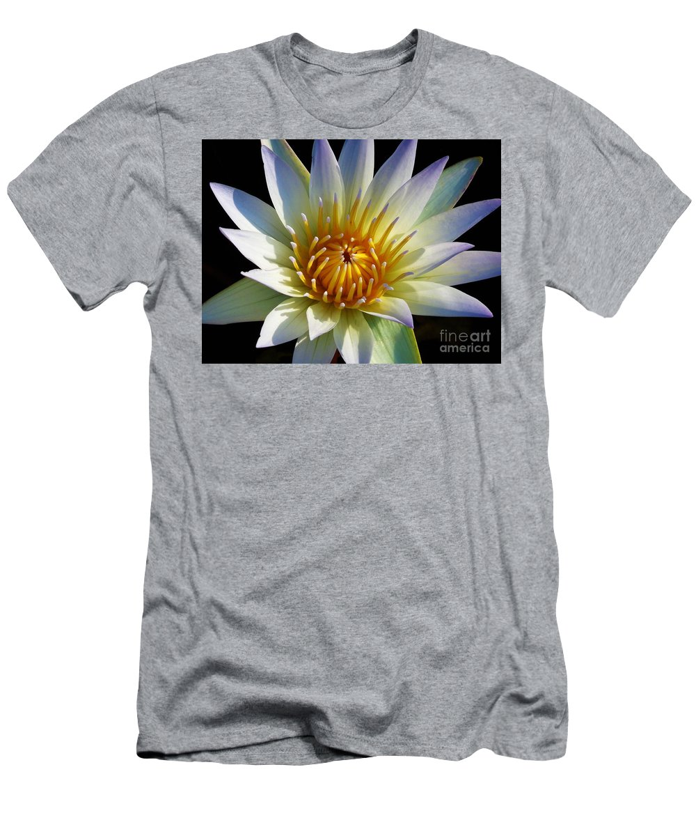 Water Lily Men's T-Shirt (Athletic Fit) featuring the photograph Fairest Lily by Chad and Stacey Hall