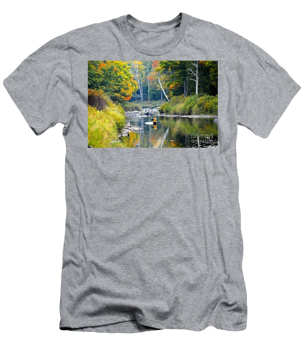 Fall Men's T-Shirt (Athletic Fit) featuring the photograph Fall Fishing by David Lee Thompson