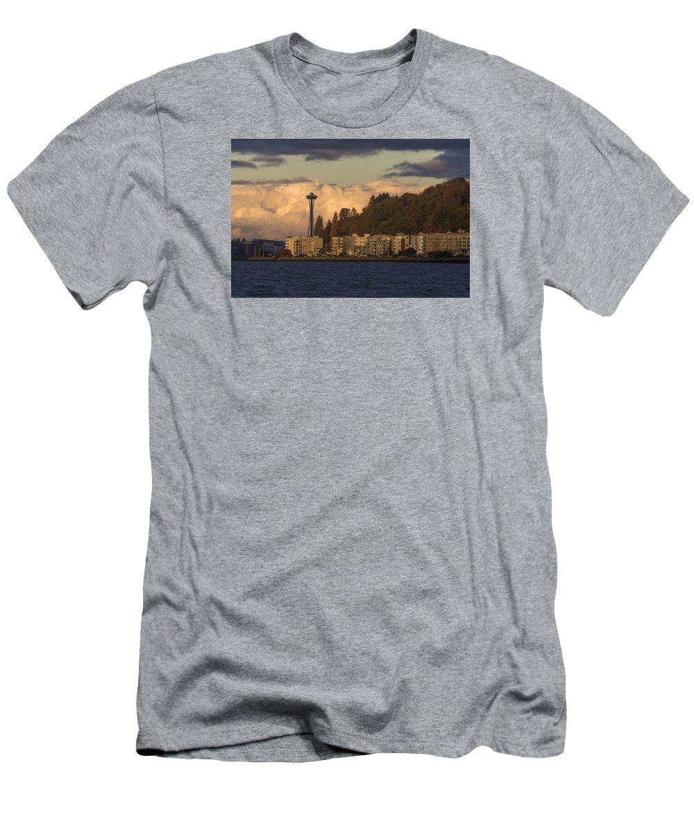 Fall Men's T-Shirt (Athletic Fit) featuring the photograph Fall In West Seattle by Matt McDonald