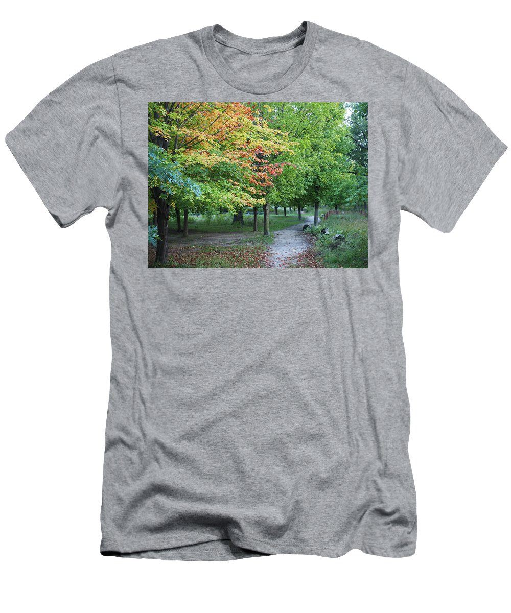 Nature Men's T-Shirt (Athletic Fit) featuring the photograph Fall Is Arriving by BiR Fotos