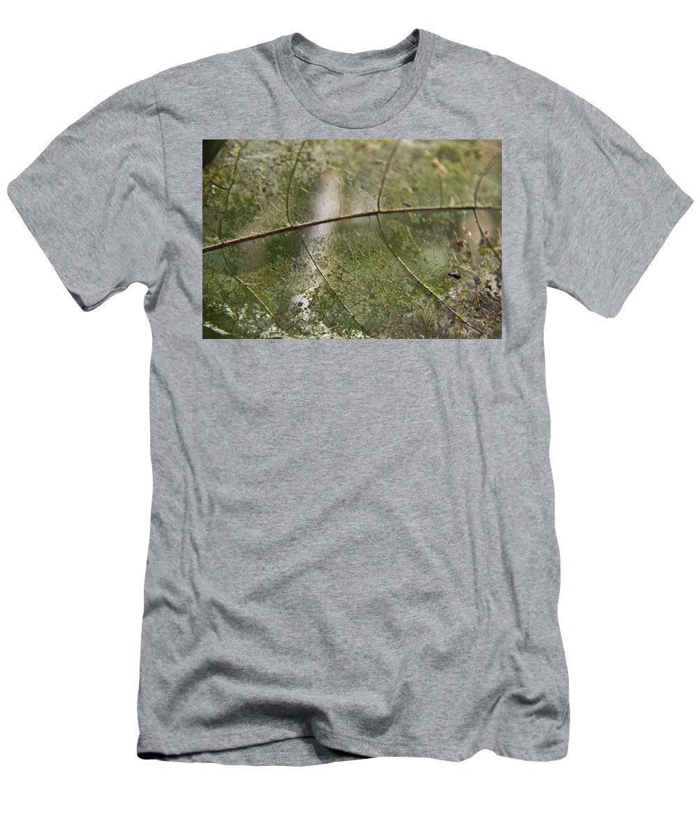 Green Men's T-Shirt (Athletic Fit) featuring the photograph fallen Leaf by Debbie Cundy