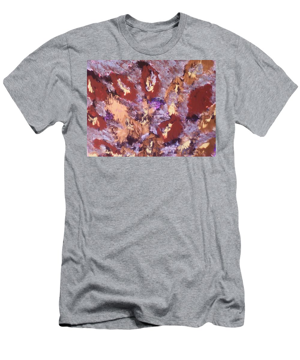 Abstract Art Men's T-Shirt (Athletic Fit) featuring the painting Falling Leave's by Marcela Hessari