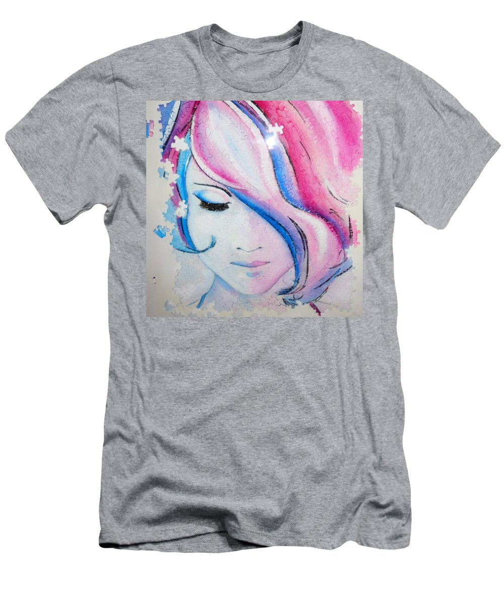 Men's T-Shirt (Athletic Fit) featuring the painting Falling To Pieces by MShade Art