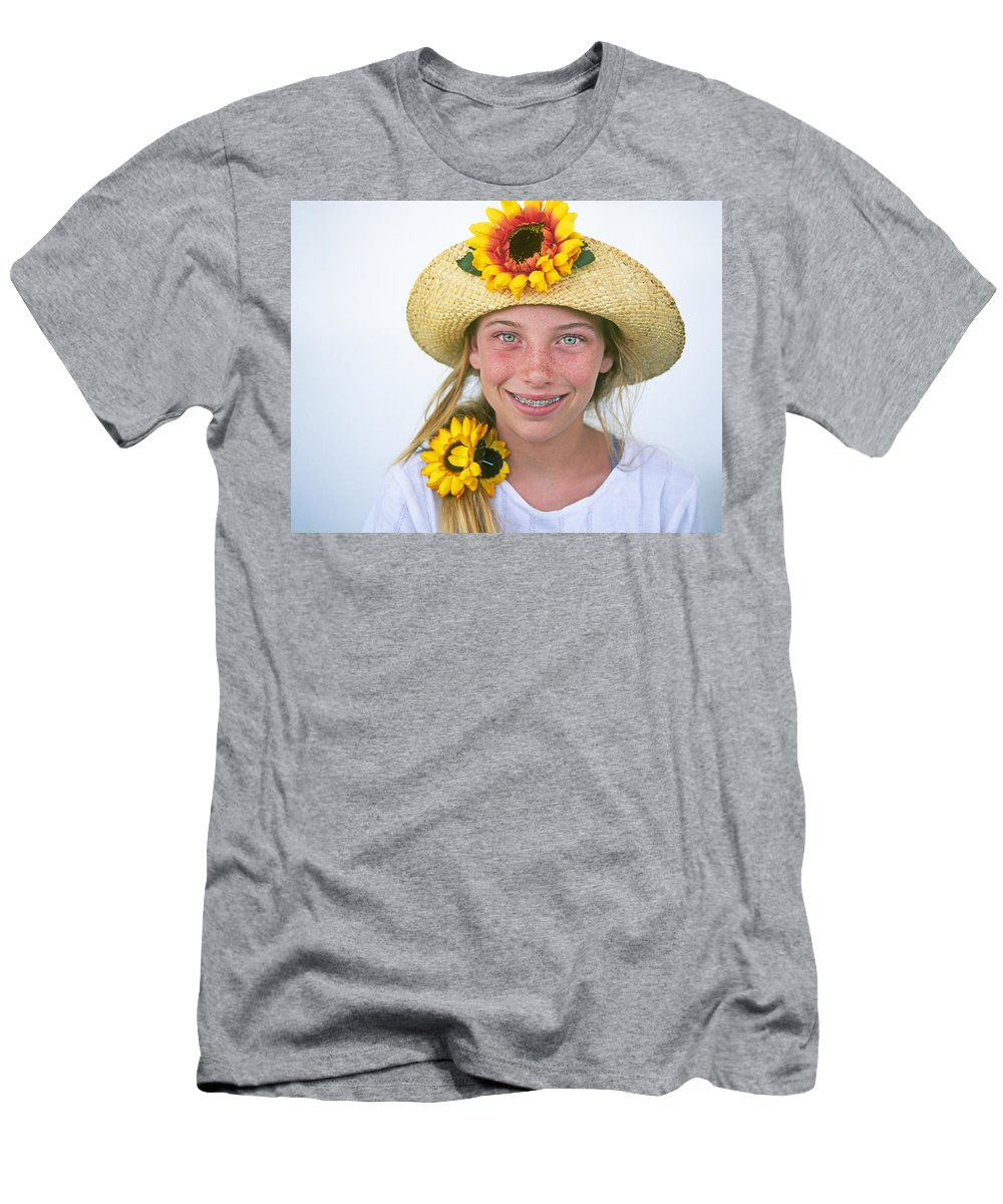 Young Men's T-Shirt (Athletic Fit) featuring the photograph Farm Girl by Buddy Mays
