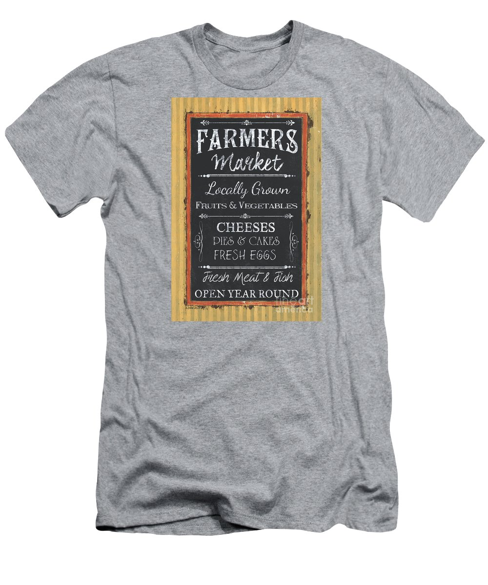 Farm Men's T-Shirt (Athletic Fit) featuring the painting Farmer's Market Signs by Debbie DeWitt
