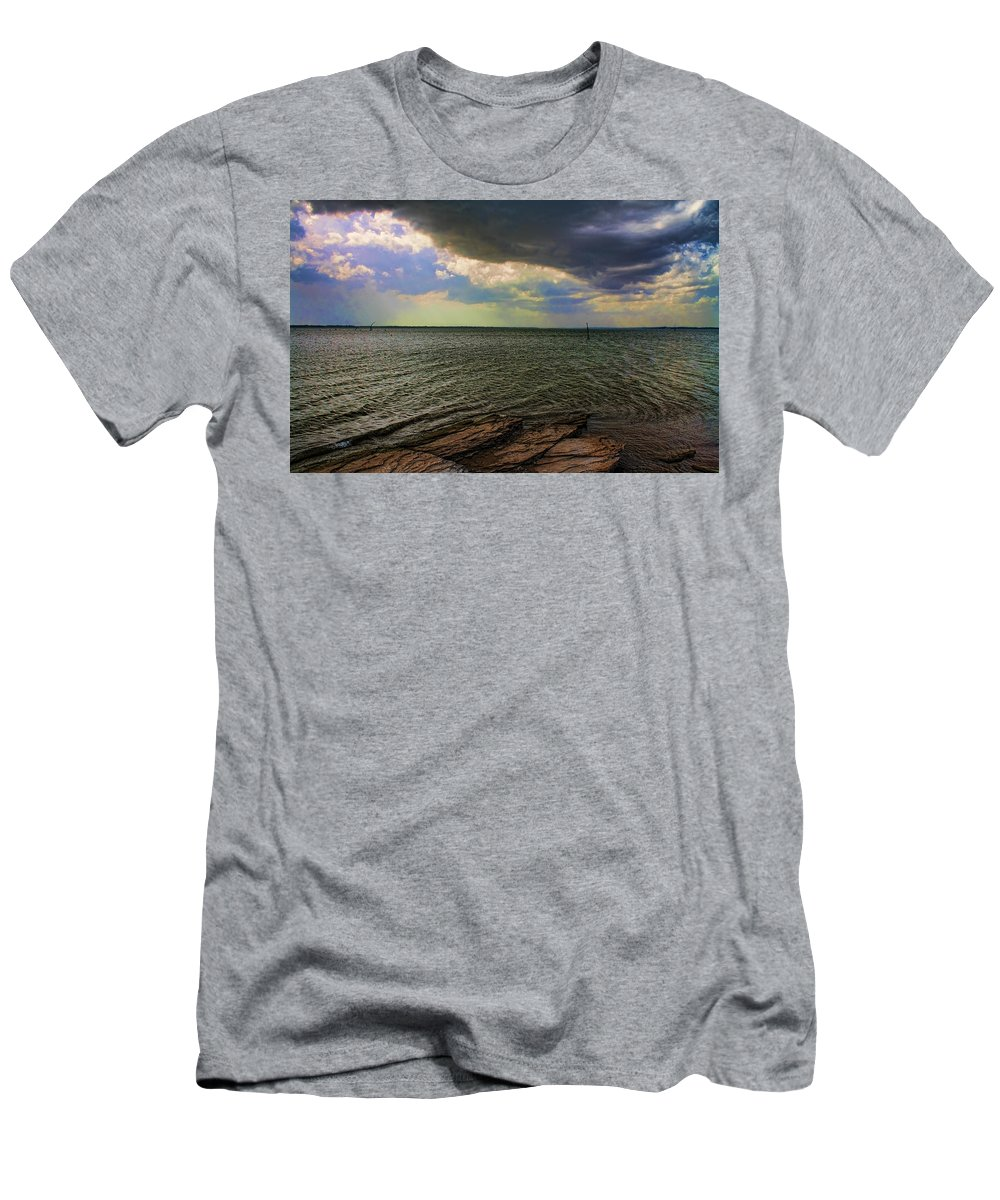 Sunset Men's T-Shirt (Athletic Fit) featuring the photograph Fast Moving Storm by Carolyn Fletcher
