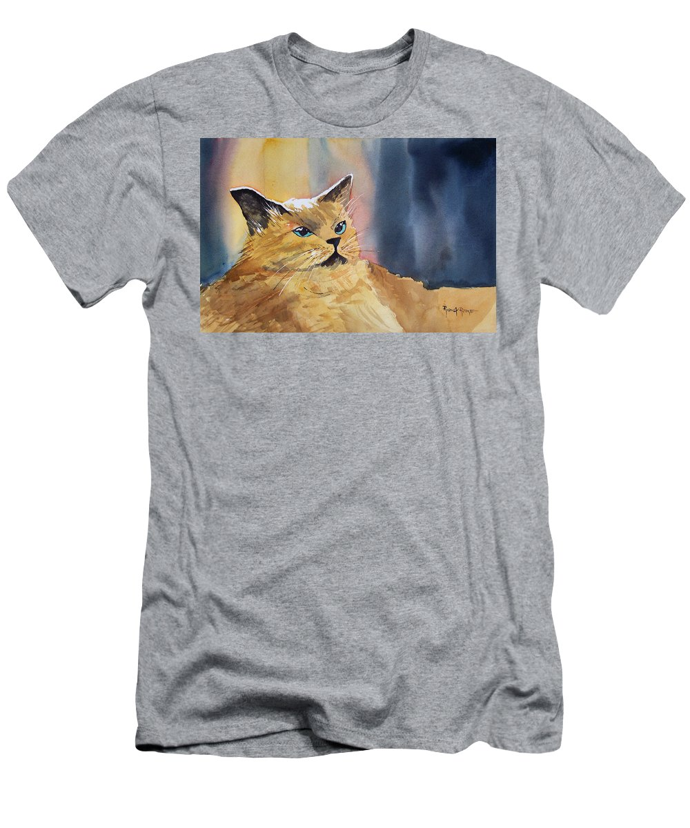 Landscape Men's T-Shirt (Athletic Fit) featuring the painting Fat Cat by Ryan Radke