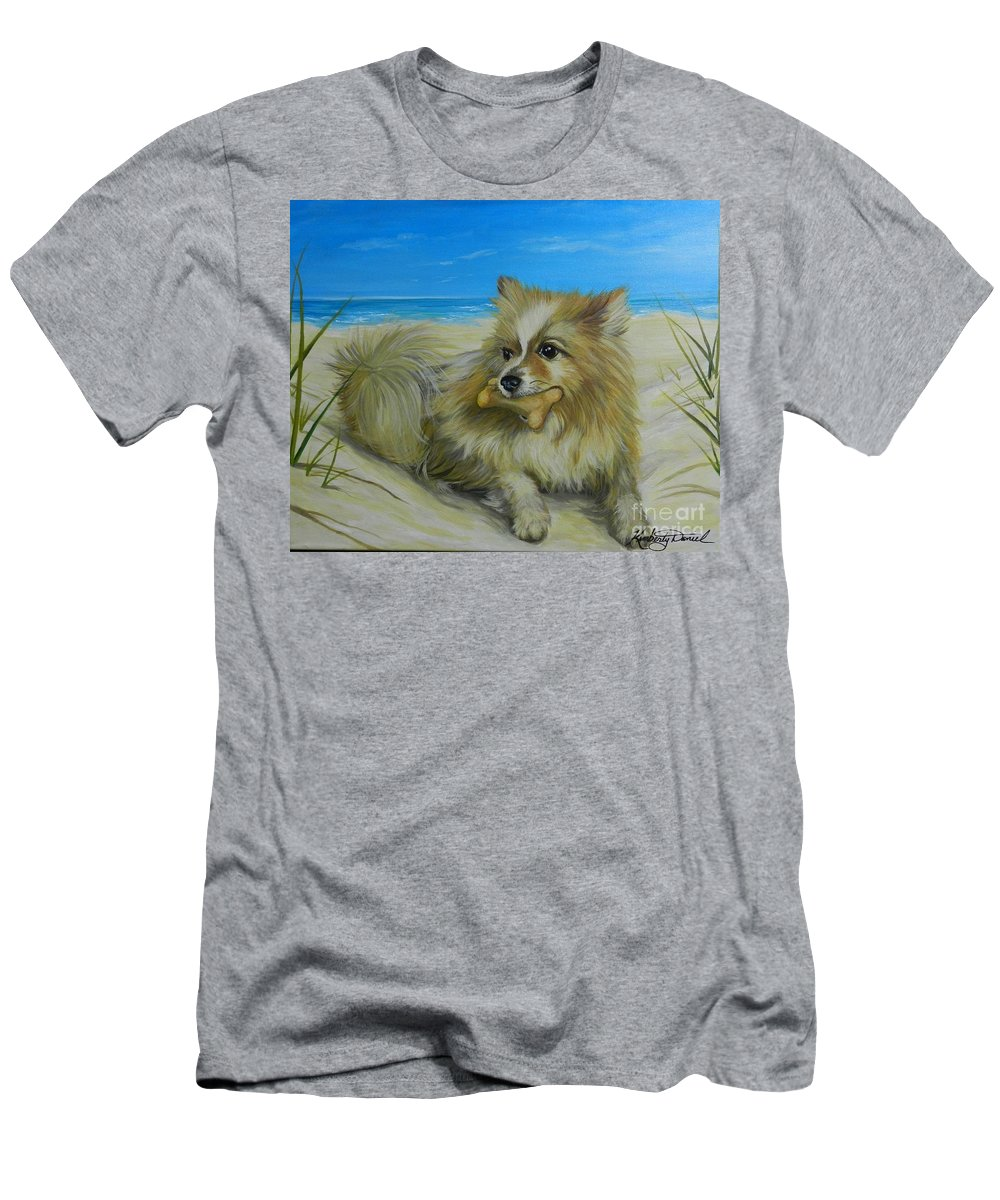 Portrait Men's T-Shirt (Athletic Fit) featuring the painting Favorite Toy by Kimberly Daniel