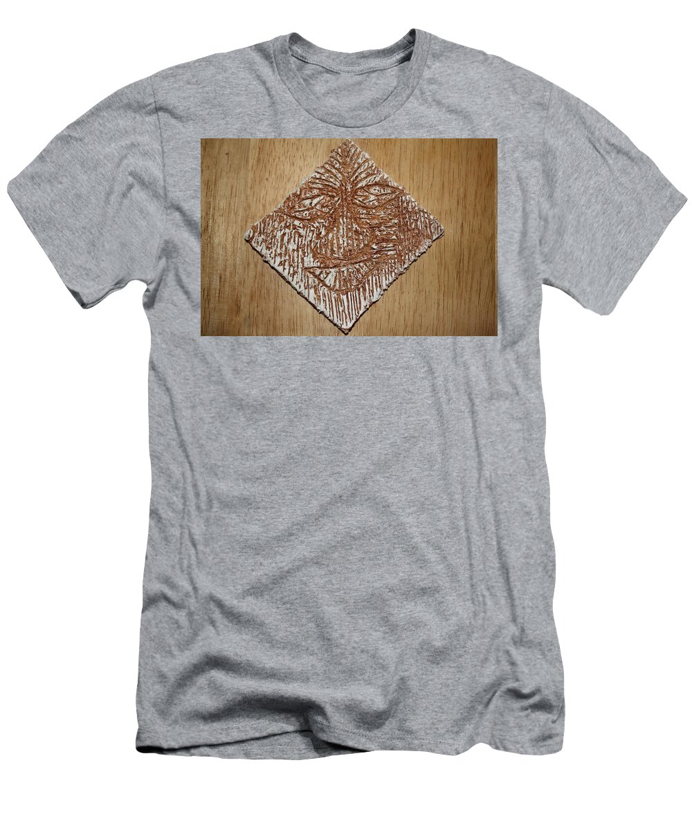 Jesus Men's T-Shirt (Athletic Fit) featuring the ceramic art Feel - Tile by Gloria Ssali