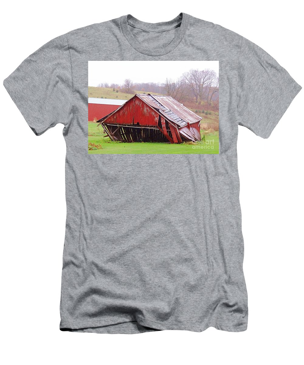 Barns Men's T-Shirt (Athletic Fit) featuring the photograph Feeling Down by Teresa Hayes
