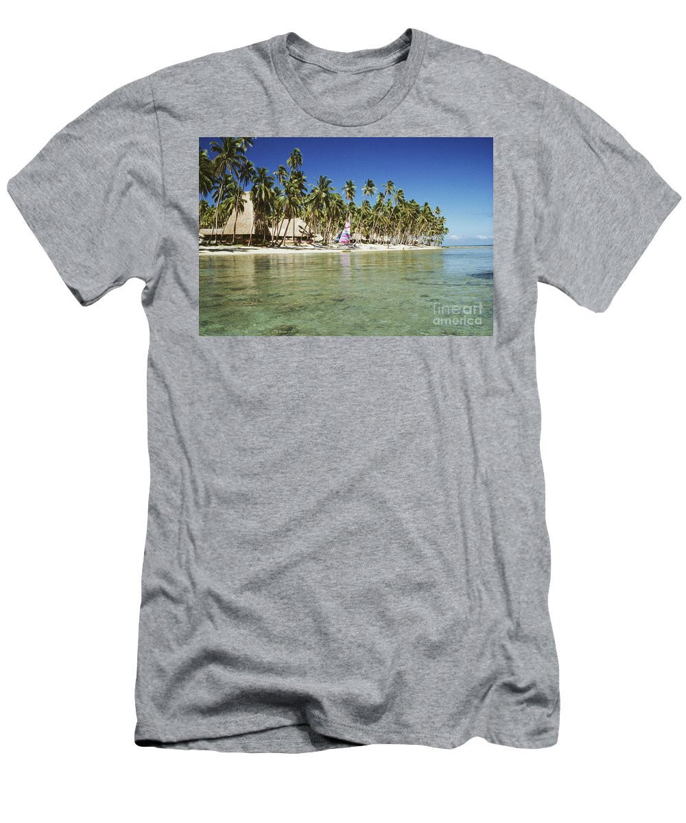 Beachfront Men's T-Shirt (Athletic Fit) featuring the photograph Fiji Resort by Doug Cameron - Printscapes