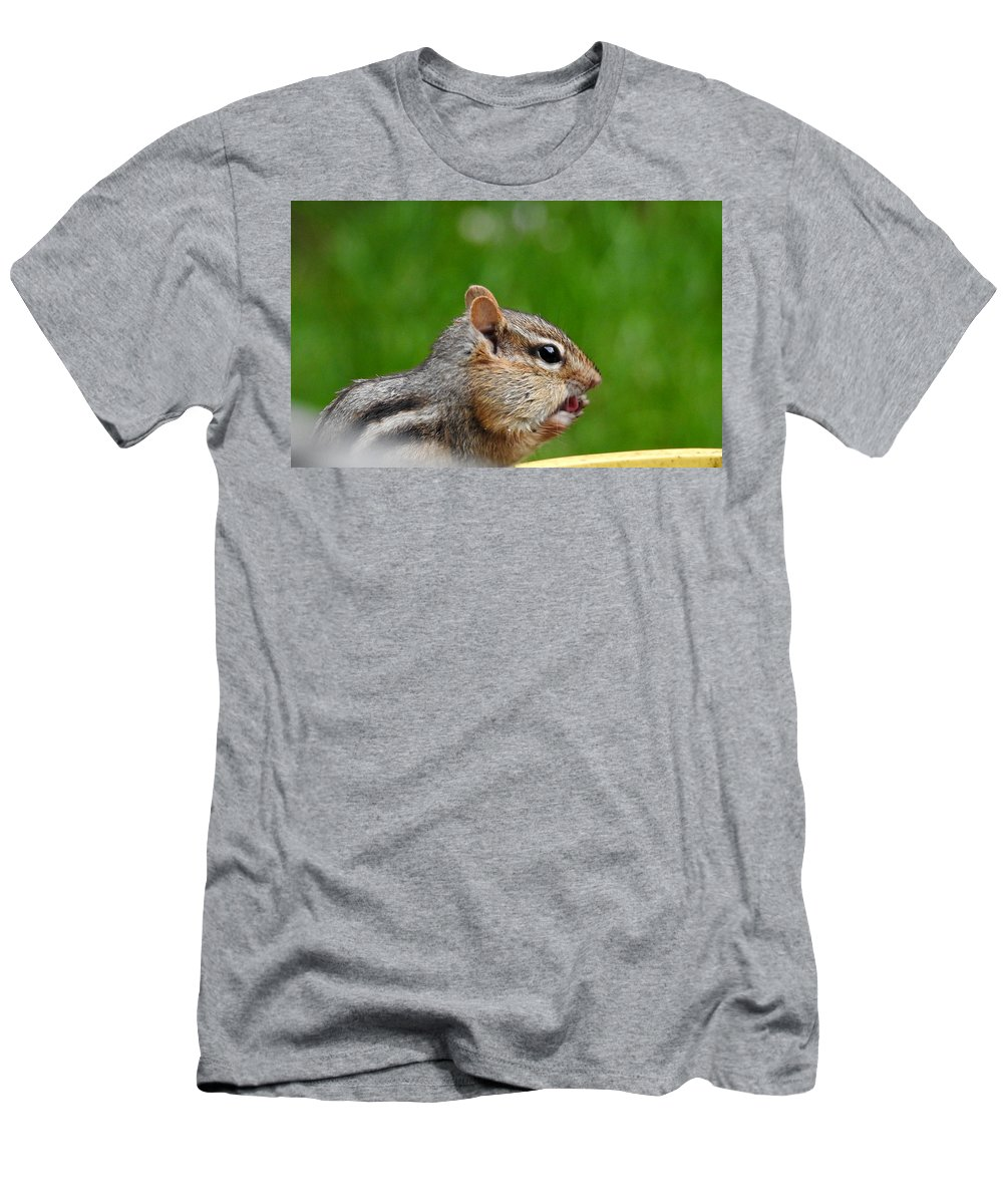 Chipmunk Men's T-Shirt (Athletic Fit) featuring the photograph Finger Lickin by Betty-Anne McDonald