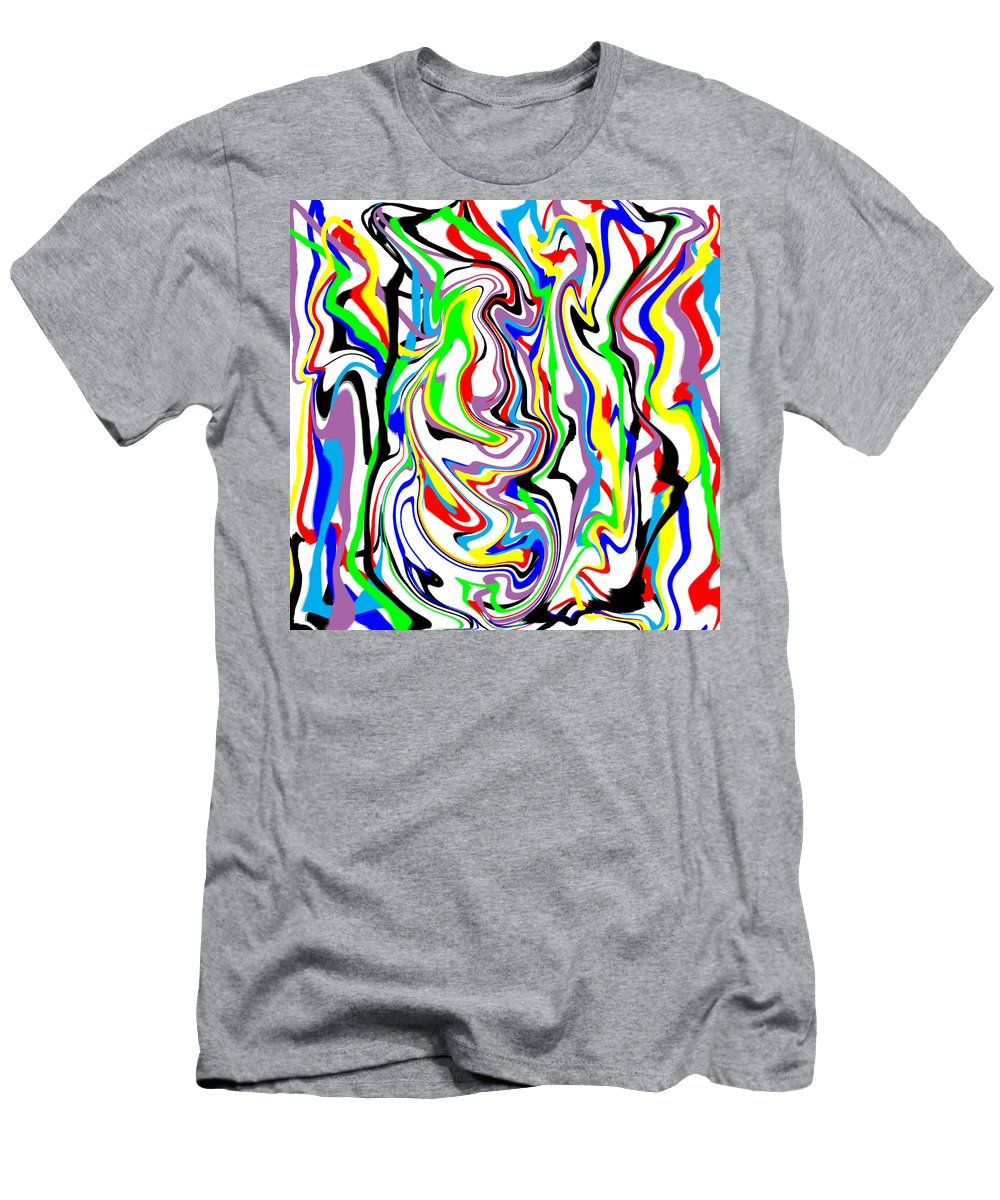 Abstract Men's T-Shirt (Athletic Fit) featuring the digital art Finny by Blind Ape Art