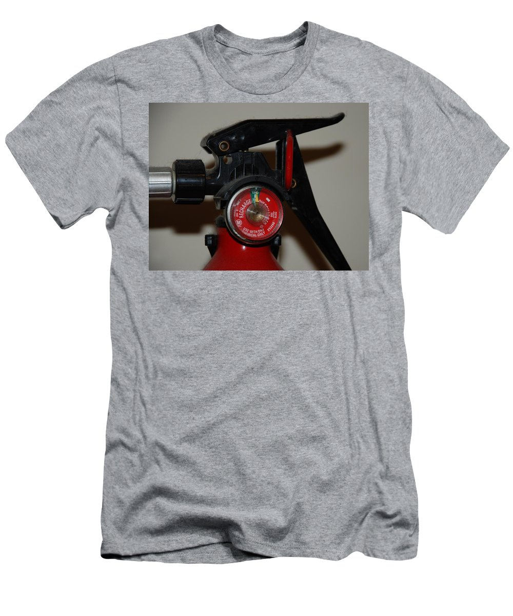Fire Extinguisher Men's T-Shirt (Athletic Fit) featuring the photograph Fire Extinguisher by Rob Hans