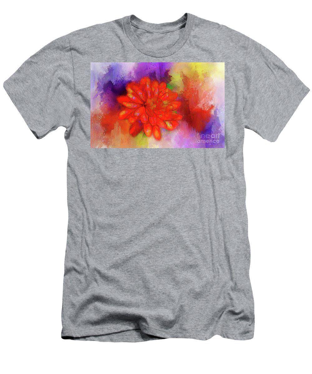 Fire Men's T-Shirt (Athletic Fit) featuring the photograph Fireflower by Judi Bagwell