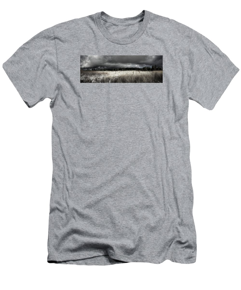 Snow Men's T-Shirt (Athletic Fit) featuring the photograph First Snow by Douglas Craig