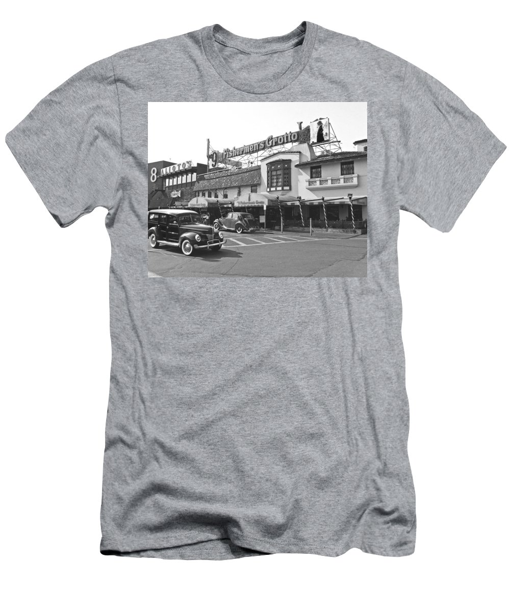Fisherman Men's T-Shirt (Athletic Fit) featuring the photograph Fisherman by Tom Reynen