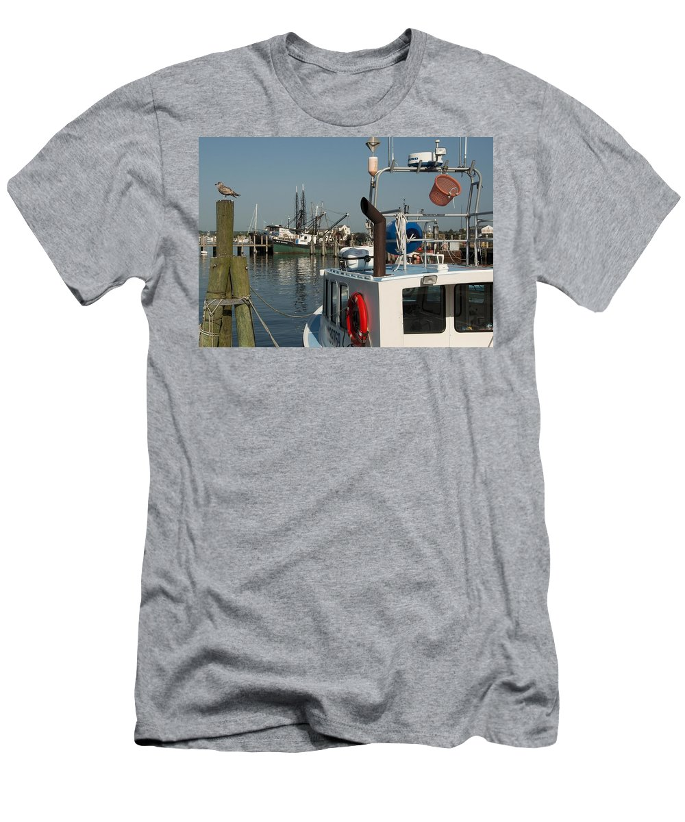 Long Men's T-Shirt (Athletic Fit) featuring the photograph Fishing Fleet by Steven Natanson
