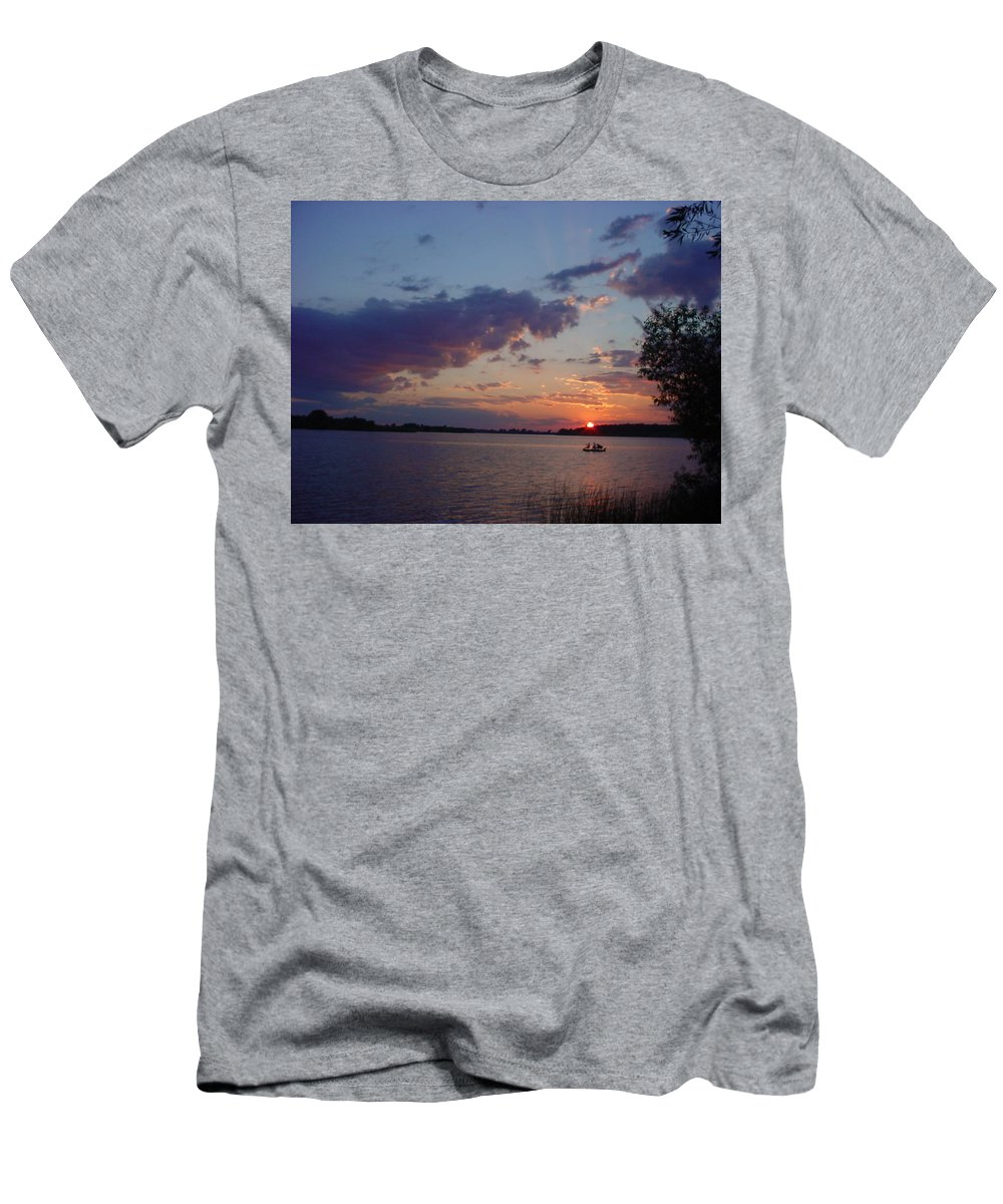 St.lawrence River Men's T-Shirt (Athletic Fit) featuring the photograph Fishing On The St.lawrence River. by Jerrold Carton