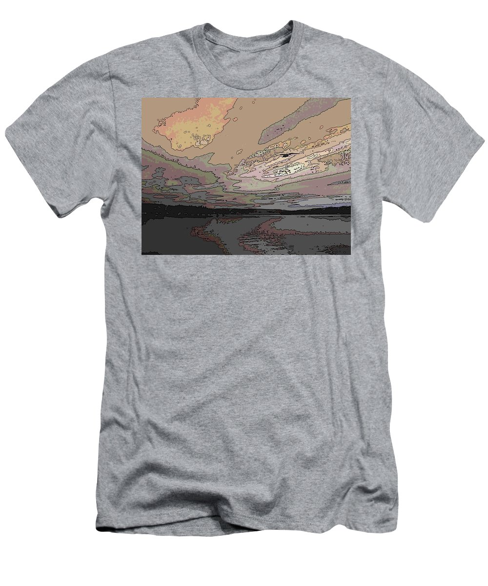 Gull Men's T-Shirt (Athletic Fit) featuring the digital art Flight Of The Gull by Tim Allen