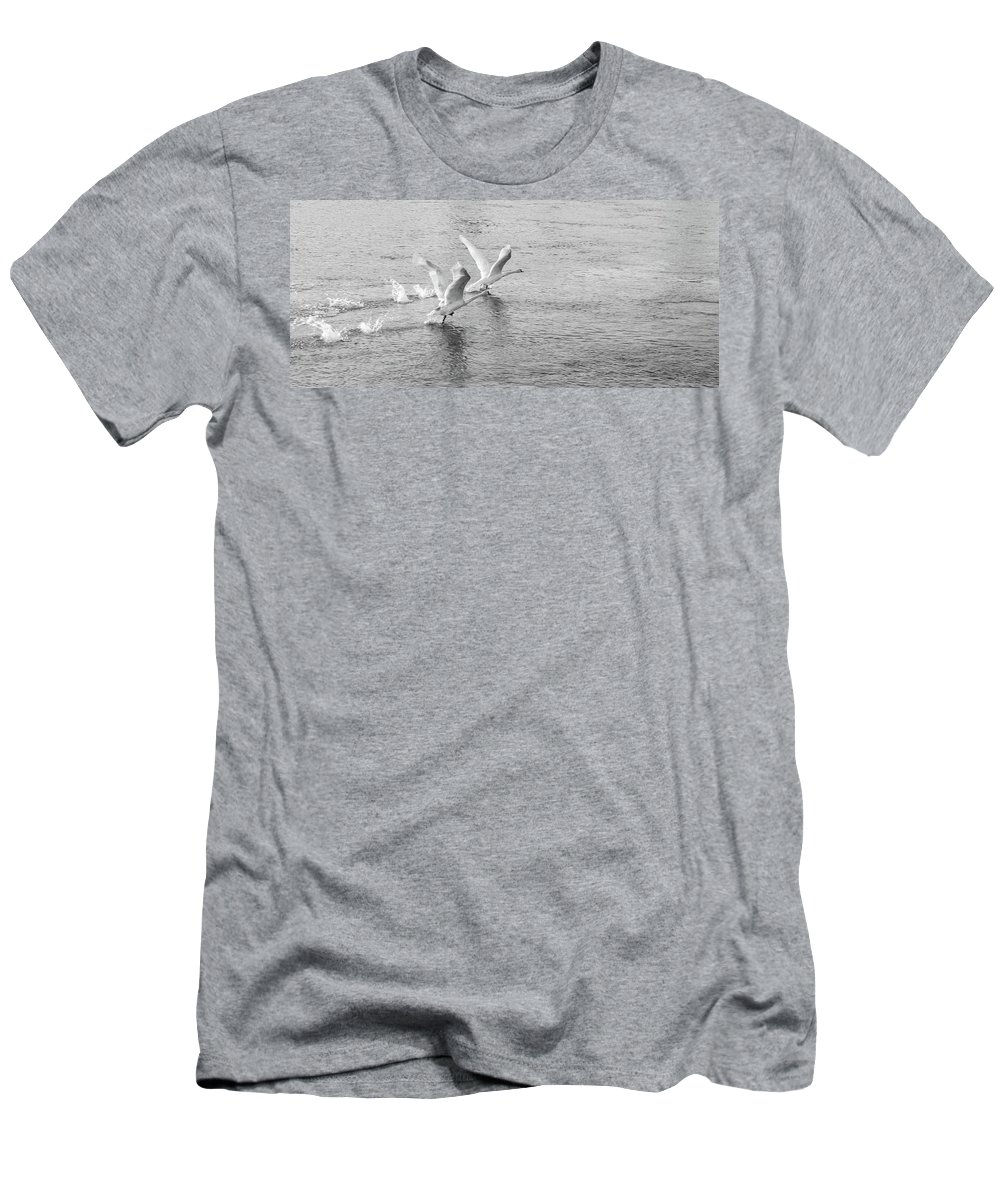 Men's T-Shirt (Athletic Fit) featuring the photograph Flight by Victor Aga