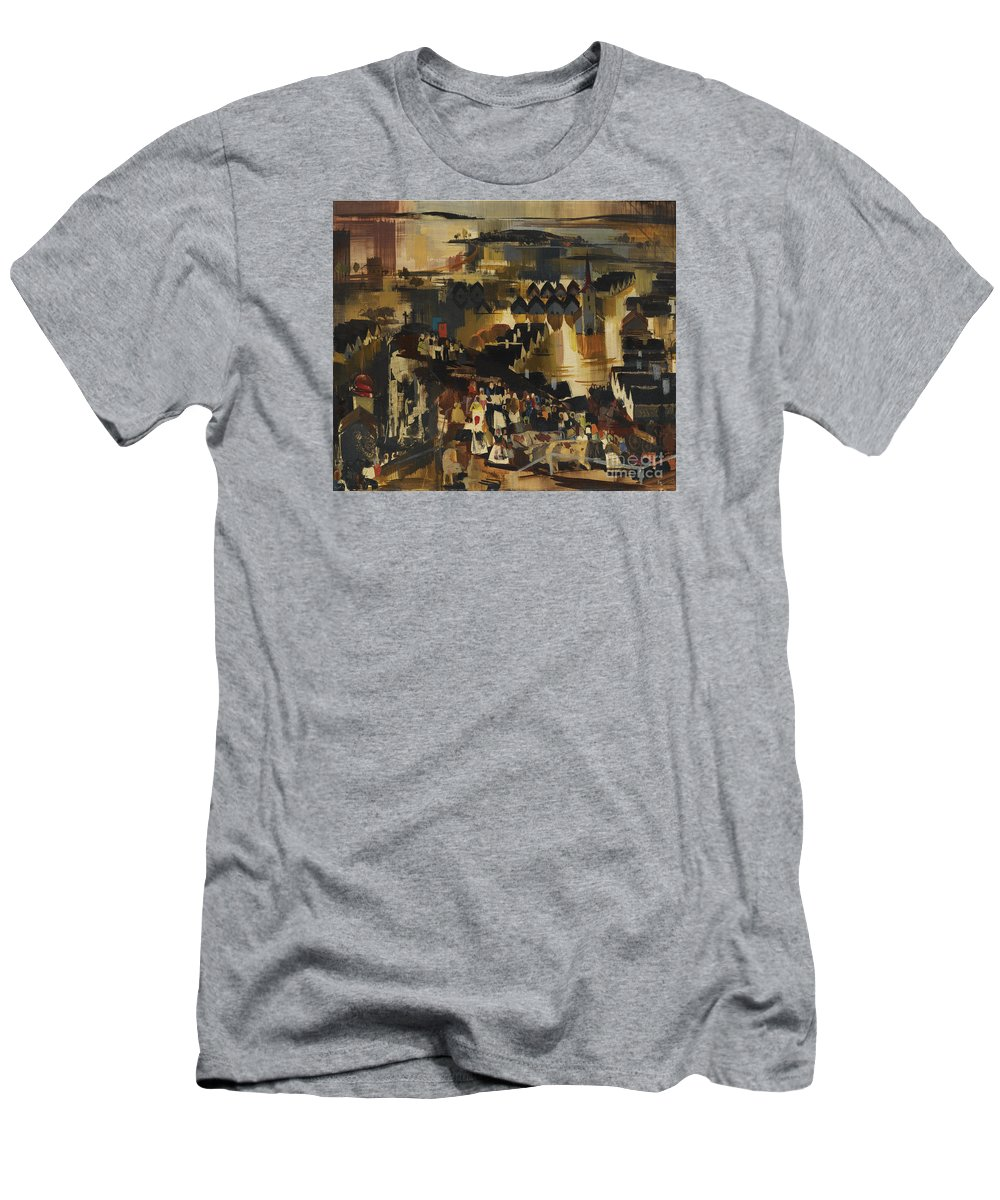 Aba-nov�k Men's T-Shirt (Athletic Fit) featuring the painting Flood by Celestial Images