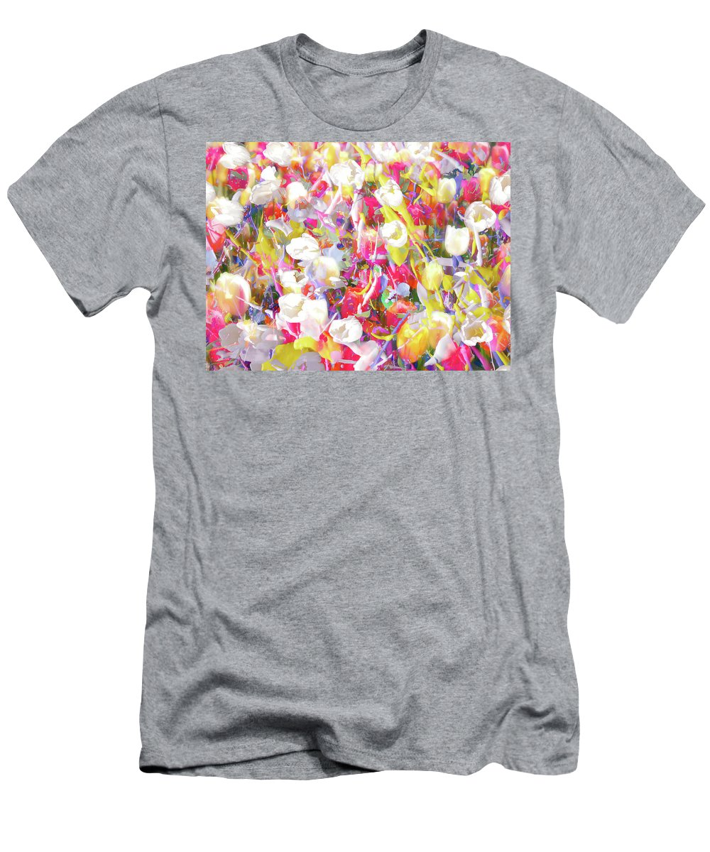 Flowers Men's T-Shirt (Athletic Fit) featuring the photograph Floral Art Clvii by Tina Baxter