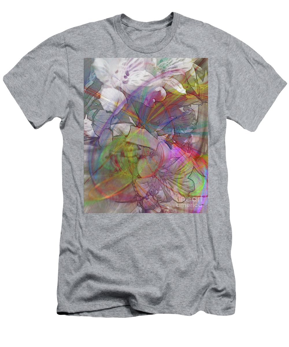 Floral Fantasy Men's T-Shirt (Athletic Fit) featuring the digital art Floral Fantasy by John Beck