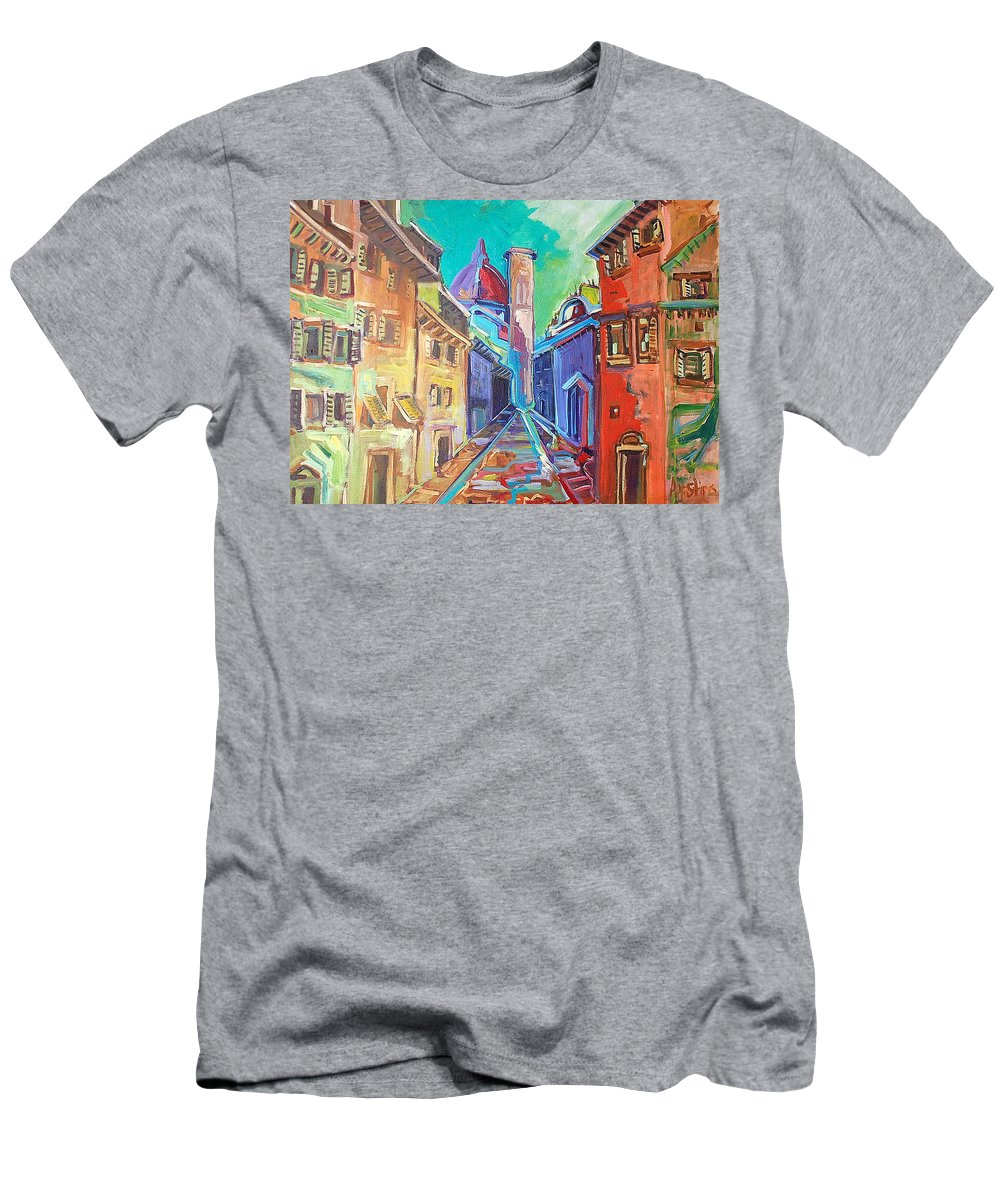 City Men's T-Shirt (Athletic Fit) featuring the painting Florence by Kurt Hausmann