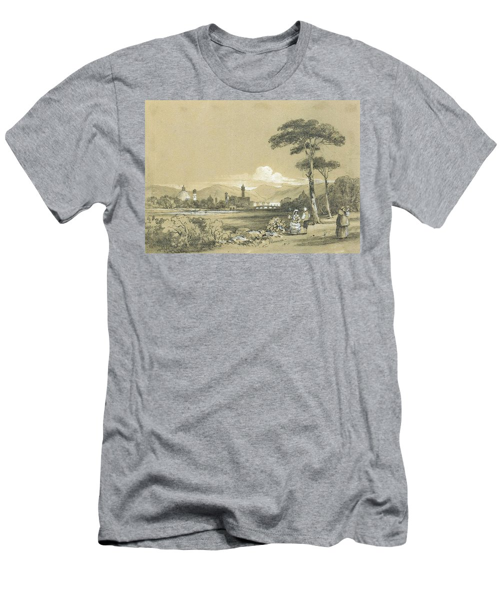 R.h. Manning � Florence Men's T-Shirt (Athletic Fit) featuring the painting Florence by MotionAge Designs