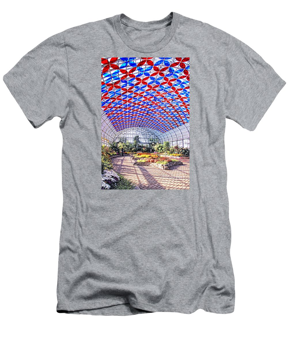 Photograph Men's T-Shirt (Athletic Fit) featuring the photograph Florescence Lightshow by Anna Sheradon