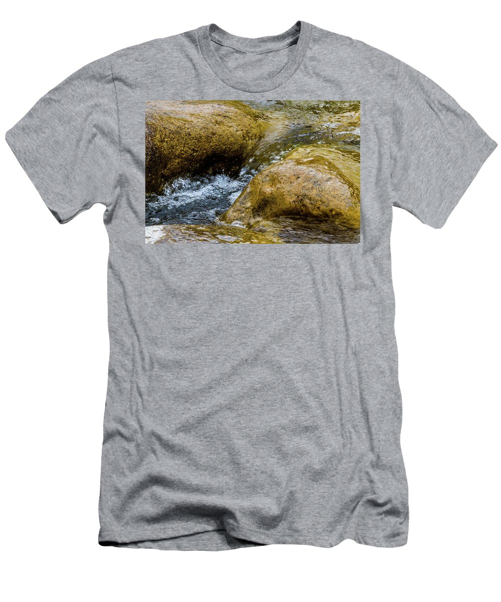 Bubbles Men's T-Shirt (Athletic Fit) featuring the photograph Flow Through And Eddy by SR Green