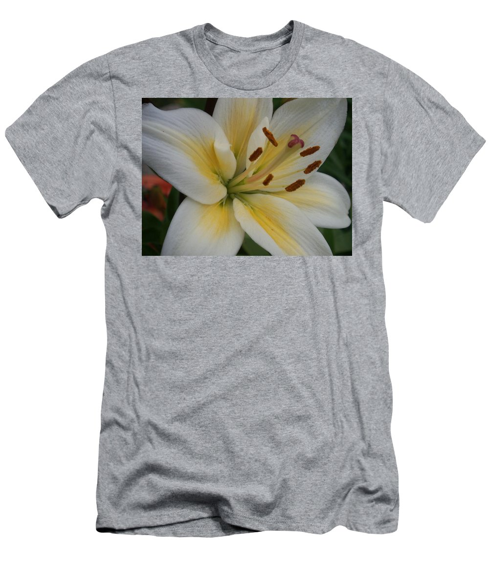 Flower Men's T-Shirt (Athletic Fit) featuring the photograph Flower Close Up 1 by Anita Burgermeister