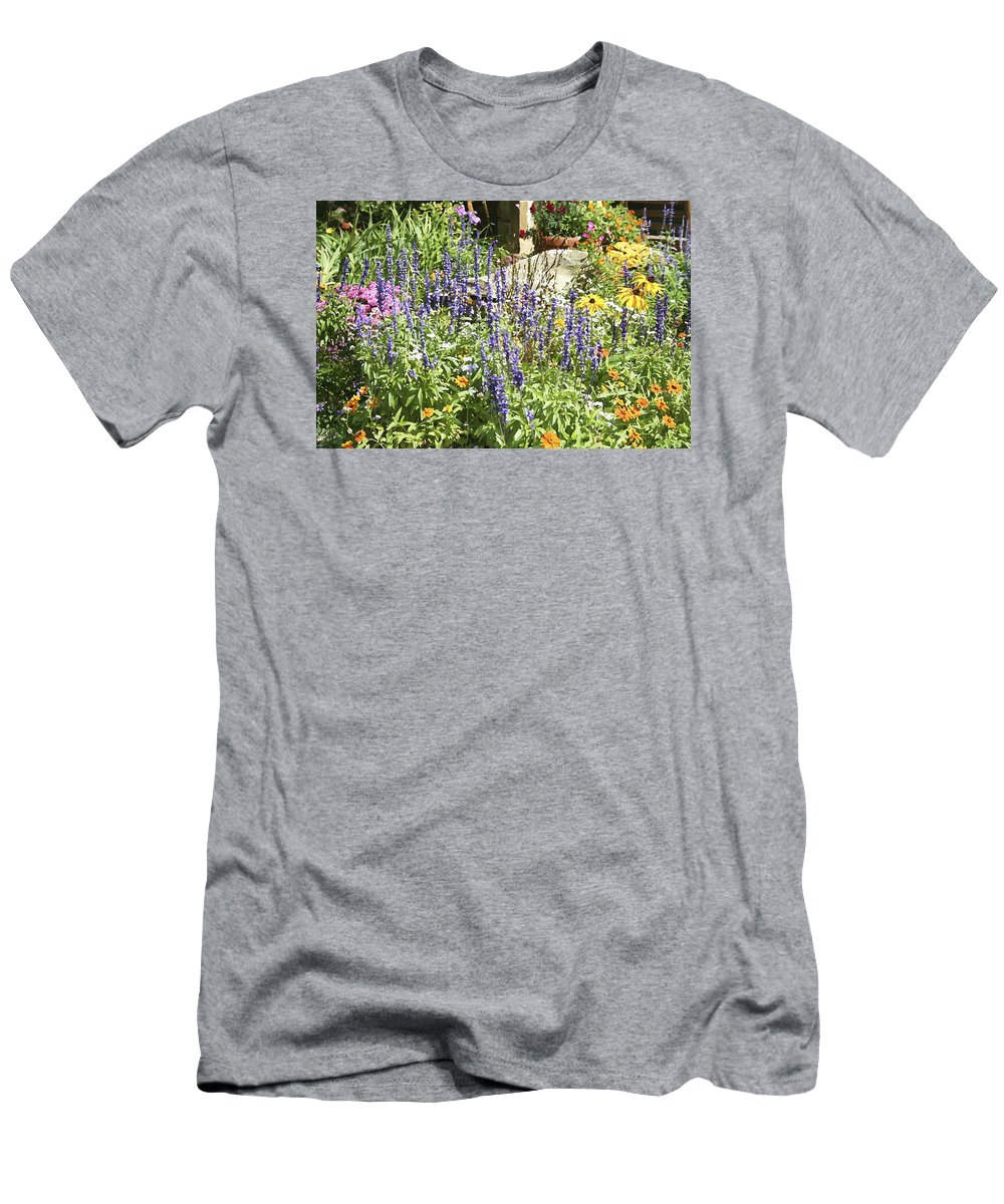 Flower Men's T-Shirt (Athletic Fit) featuring the photograph Flower Garden by Margie Wildblood