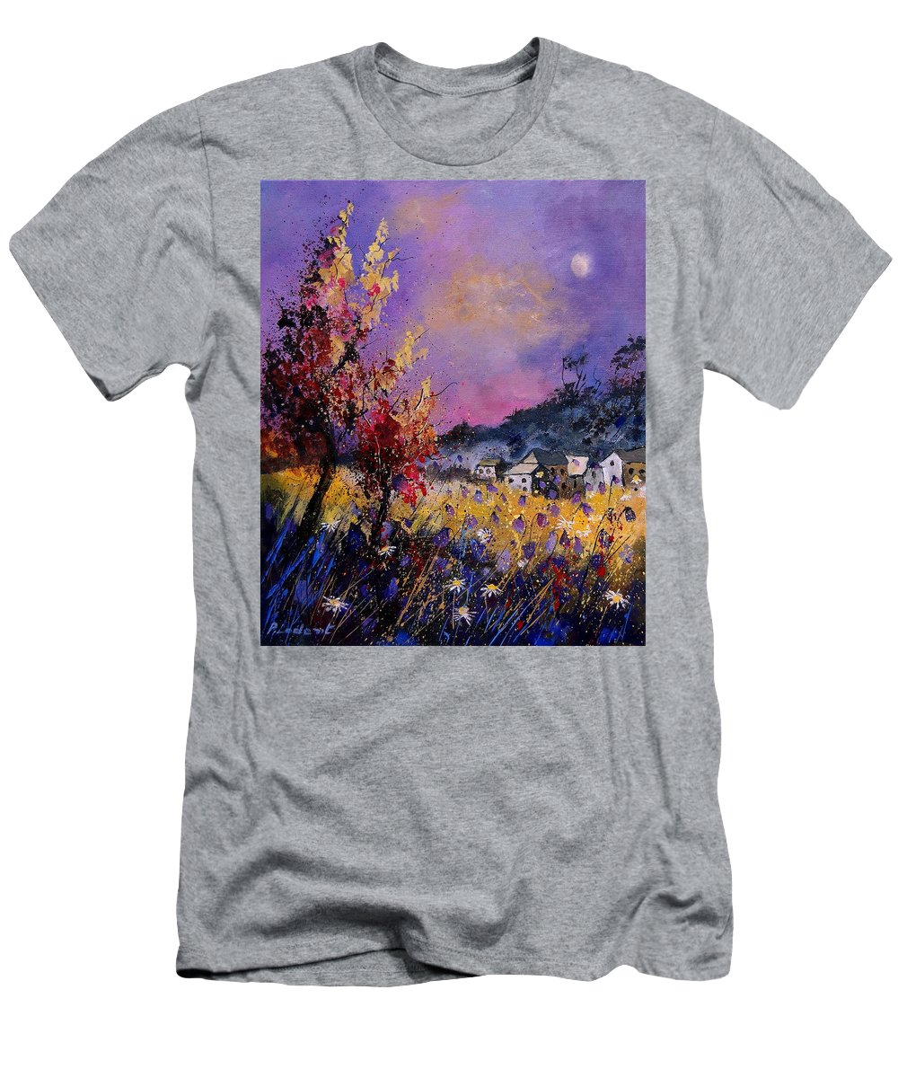 Men's T-Shirt (Athletic Fit) featuring the painting Flowered Landscape 569070 by Pol Ledent
