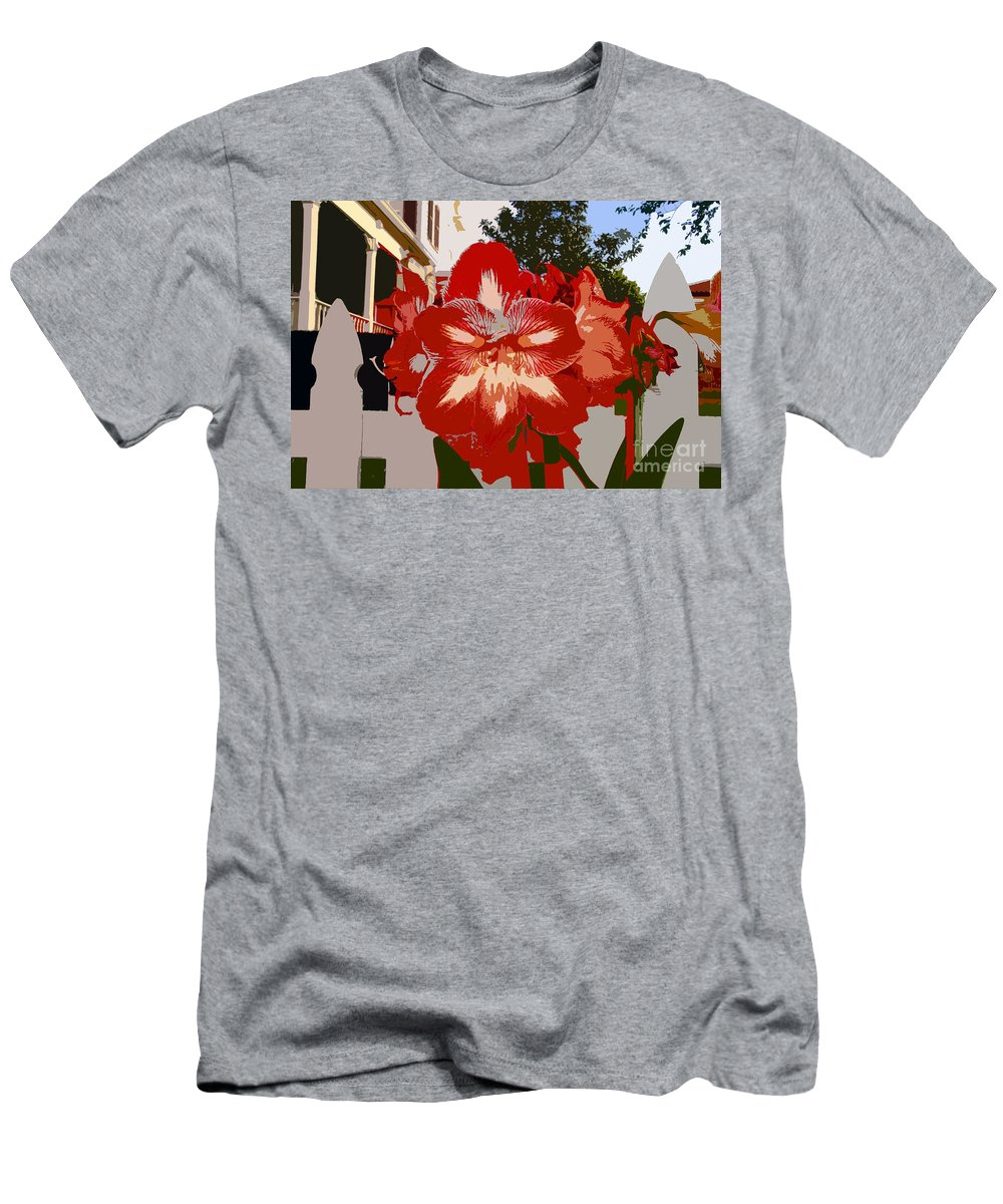 Flower Men's T-Shirt (Athletic Fit) featuring the photograph Flowering Backyard Work Number 33 by David Lee Thompson
