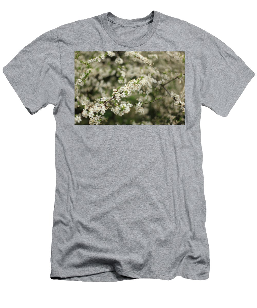 Horizontal Men's T-Shirt (Athletic Fit) featuring the photograph Flowering Branches by Stefania Levi