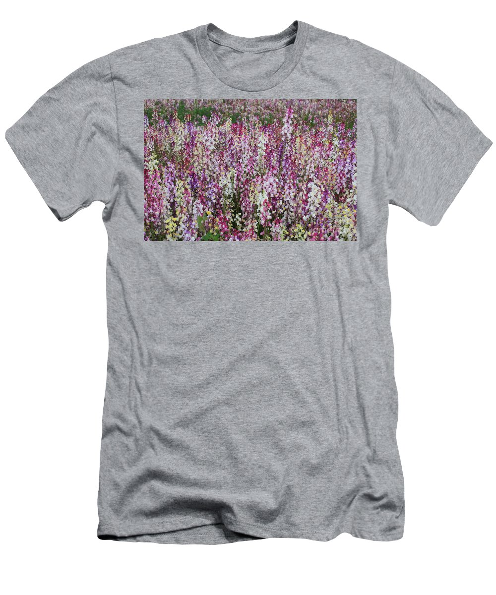 Field Of Flowers Men's T-Shirt (Athletic Fit) featuring the photograph Flowers Forever by Carol Groenen