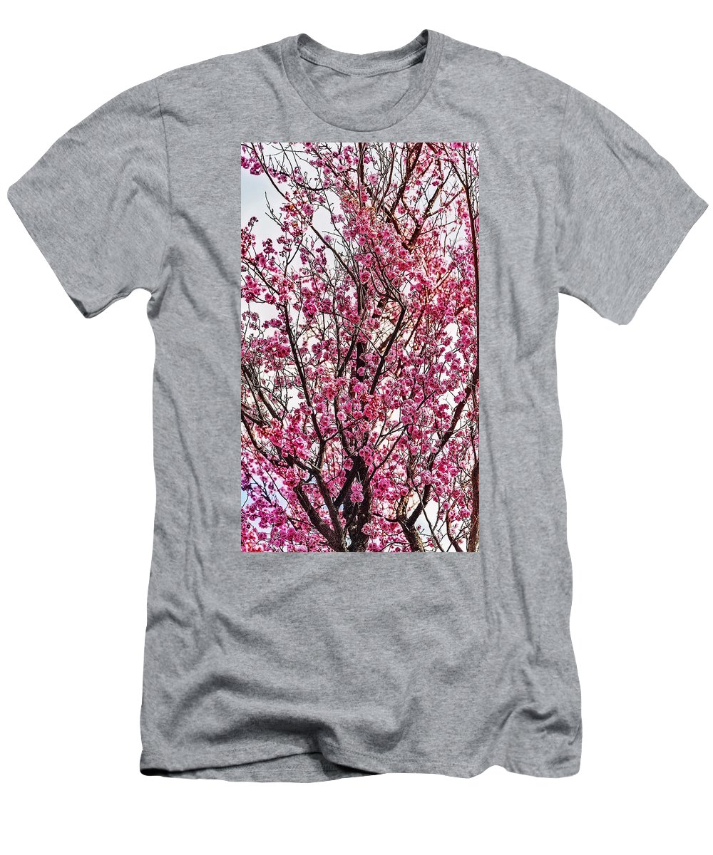 Spring Men's T-Shirt (Athletic Fit) featuring the photograph Flowers Of Spring by Nancy Marie Ricketts