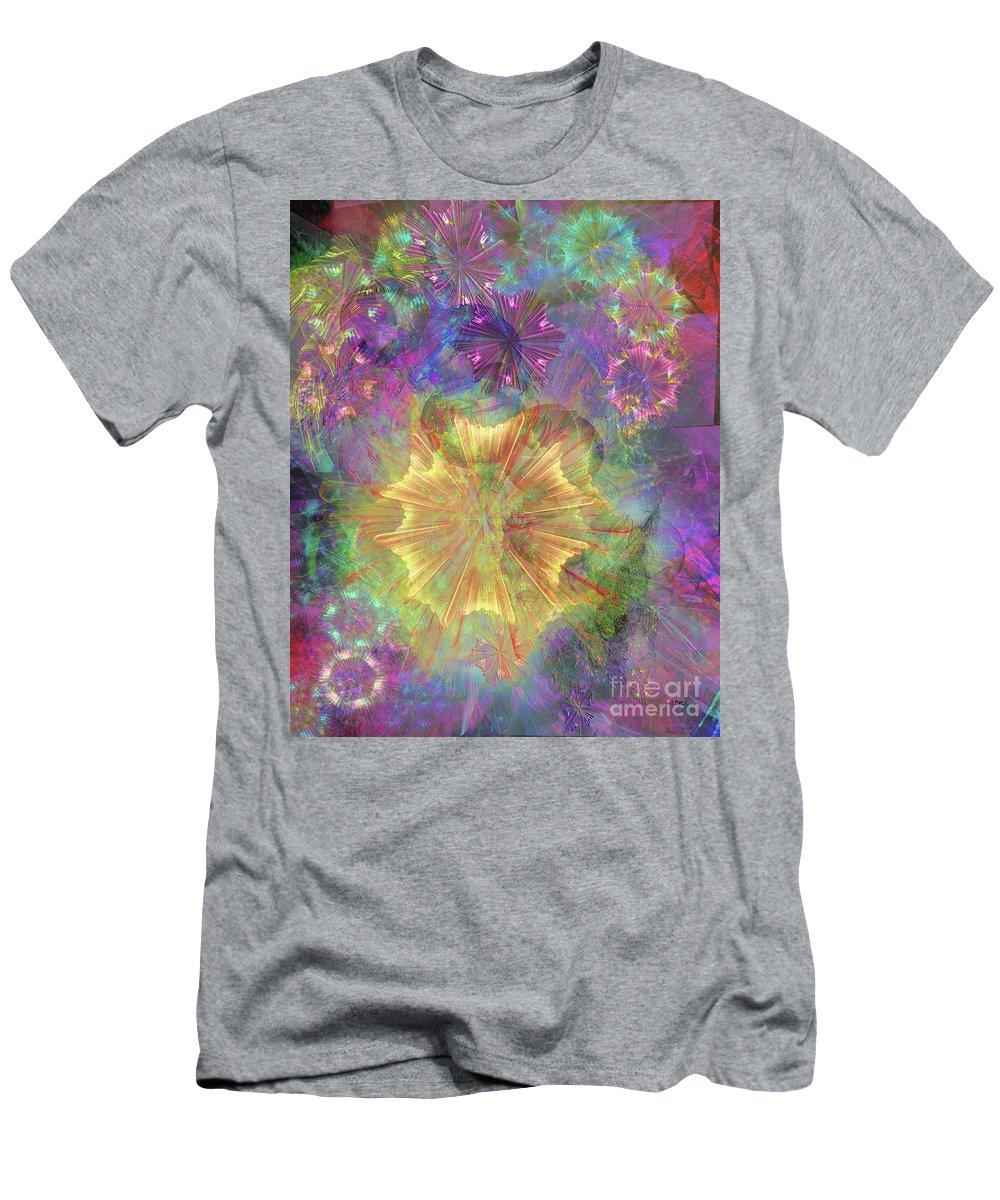 Flowerworks Men's T-Shirt (Athletic Fit) featuring the digital art Flowerworks by John Beck