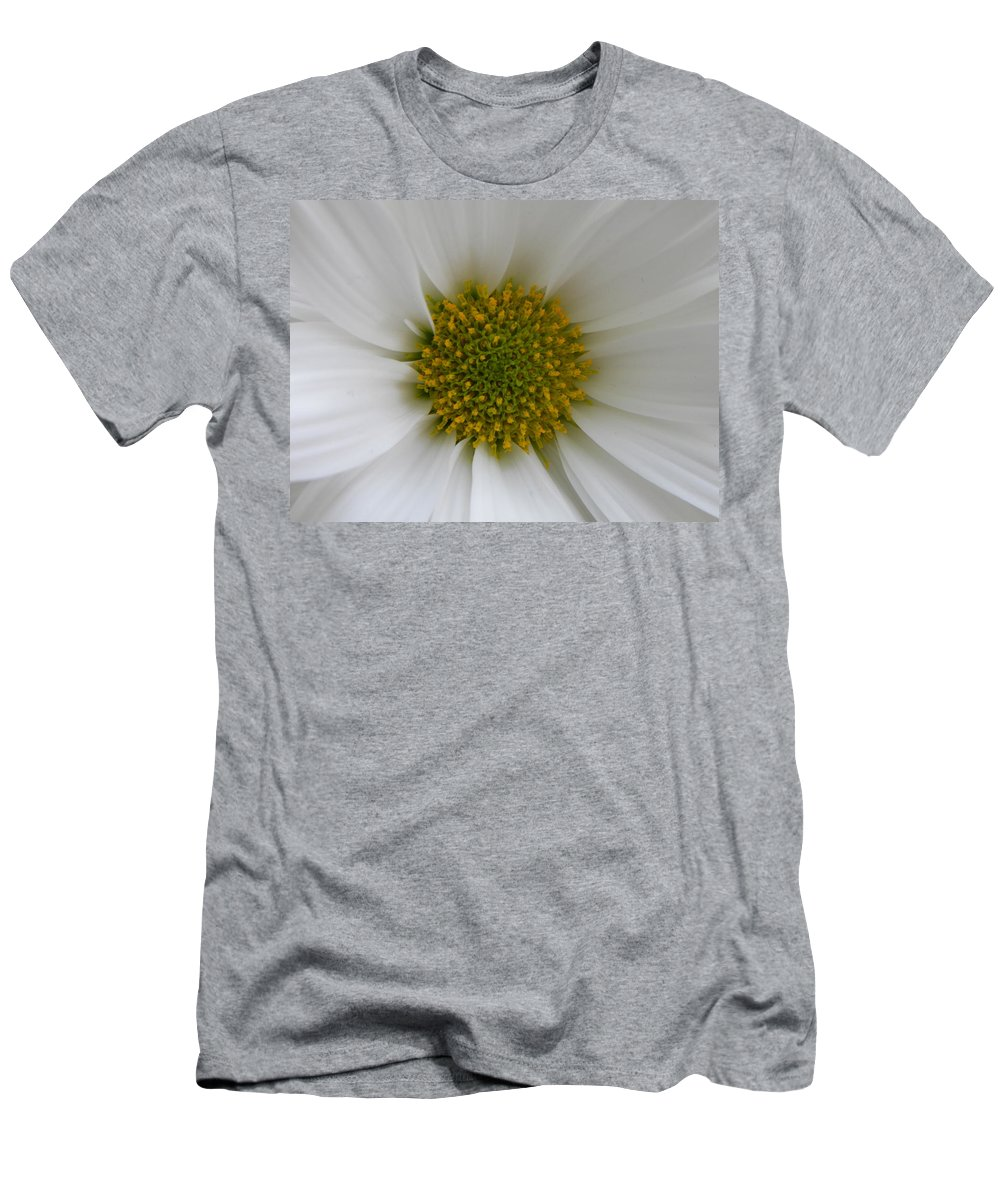 Nature Men's T-Shirt (Athletic Fit) featuring the photograph Core Of A Daisy by Shannon Turek
