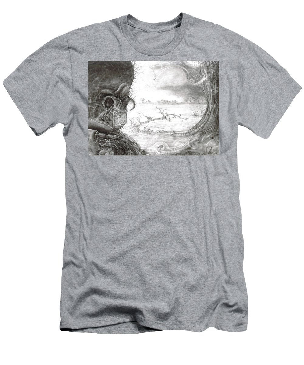 Fomorii T-Shirt featuring the drawing Fomorii Swamp by Otto Rapp