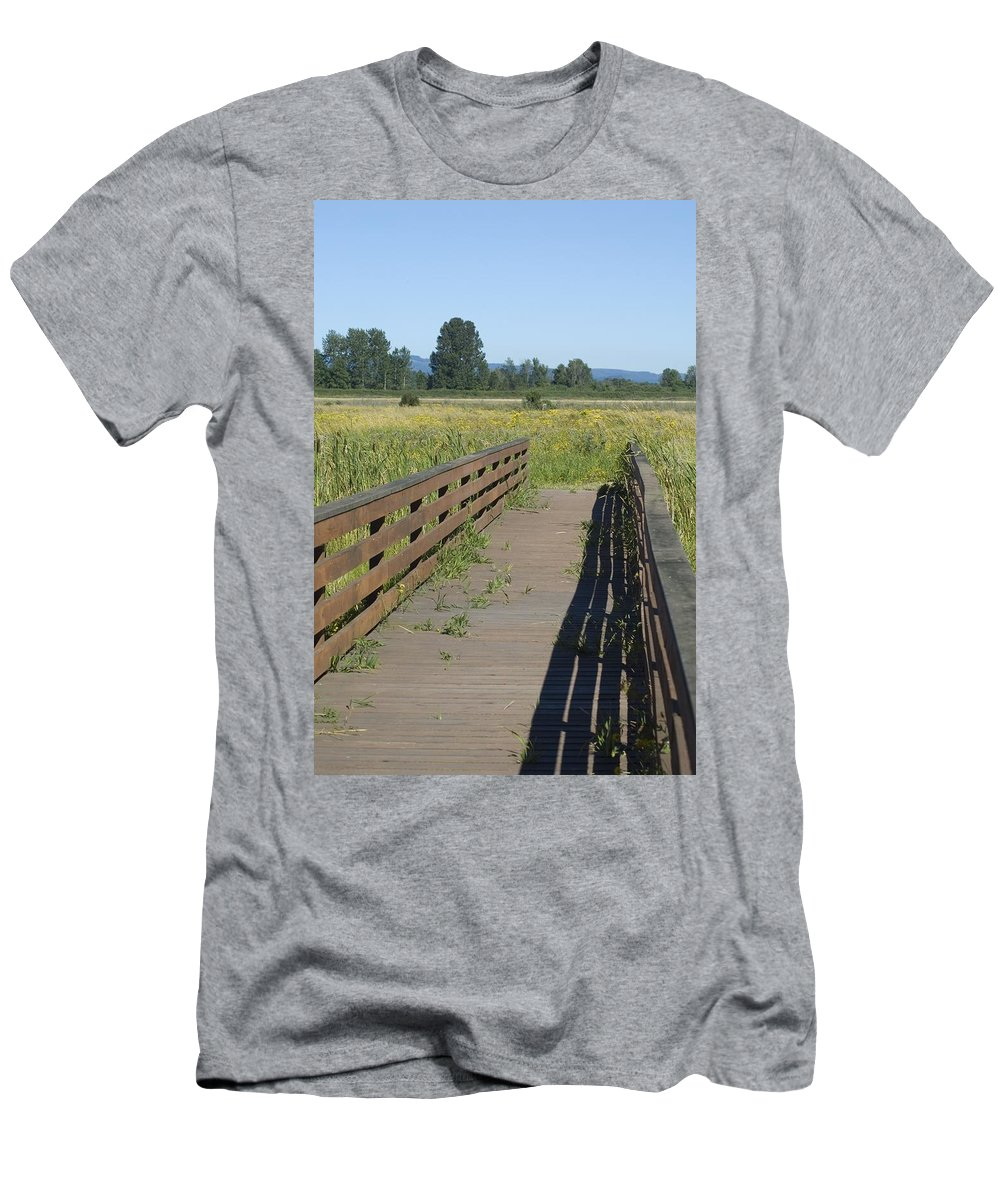 Foot Men's T-Shirt (Athletic Fit) featuring the photograph Foot Bridge by Sara Stevenson